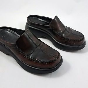 Dansko Brown Leather Mules Slip On Loafers Shoes